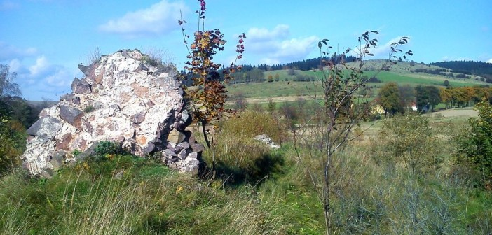 Co zostało po zamku Wojaczów w Grzędach?